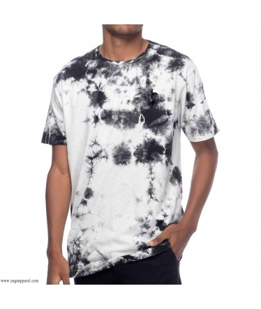 Custom Made Zega Apparel Black Tie and Dye T shirt