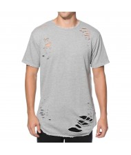 Custom Made Zega Apparel Laser Cut Distressed T shirt