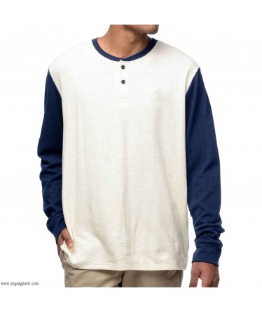 Custom Made Zega Apparel Long Sleeve Base Ball Henley T shirt