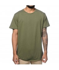 Custom Made Zega Apparel Long Tail Olive Style T shirt