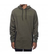 Custom Made Zega Apparel Pull Over Curved Hem Cut and Sew Hoodies