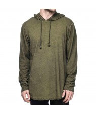 Custom Zega Apparel Pull Over Elongated Rib less Hoodies