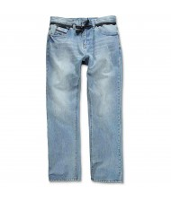 Custom Made Zega Apparel Acid Wash Blue Jeans