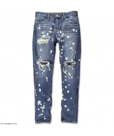 Custom Made Zega Apparel Distressed Spotted Jeans