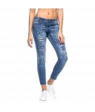 Custom Made Zega Apparel Distressed Lift Up Jeans