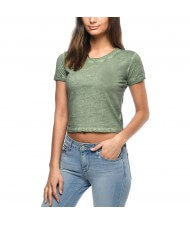 Zega Apparel Custom Acid Washed Crop T-Shirts