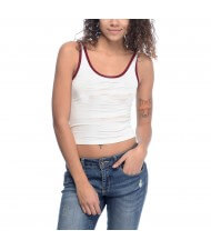Zega Apparel Ringer Style Crop Tank Tops