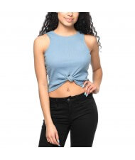 cut and sew Custom Made Women's Knot Crop Top