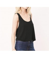 cut and sew Flowy Boxy Crop tops
