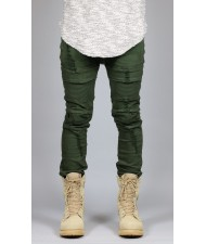 cut and sew Olive Moto Jean