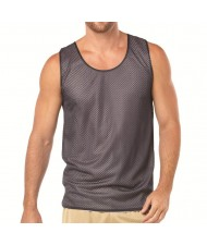 cut and sew Mesh Tank tops