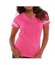 Zega Apparel Women Football V-neck T-shirt