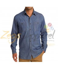 Zega Apparel Denim Full Sleeve Pocket T-shirts