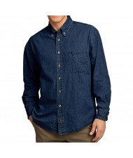 cut and sew Men Long Sleeve Denim Shirt