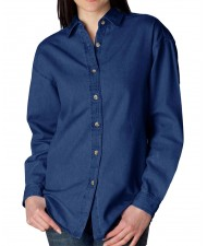 cut and sew Ladies Denim Shirt