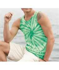 cut and sew Men's Tie dye Tank tops