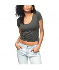 Zega Apparel Custom Made Women's Back Draw Cord Crop Tops