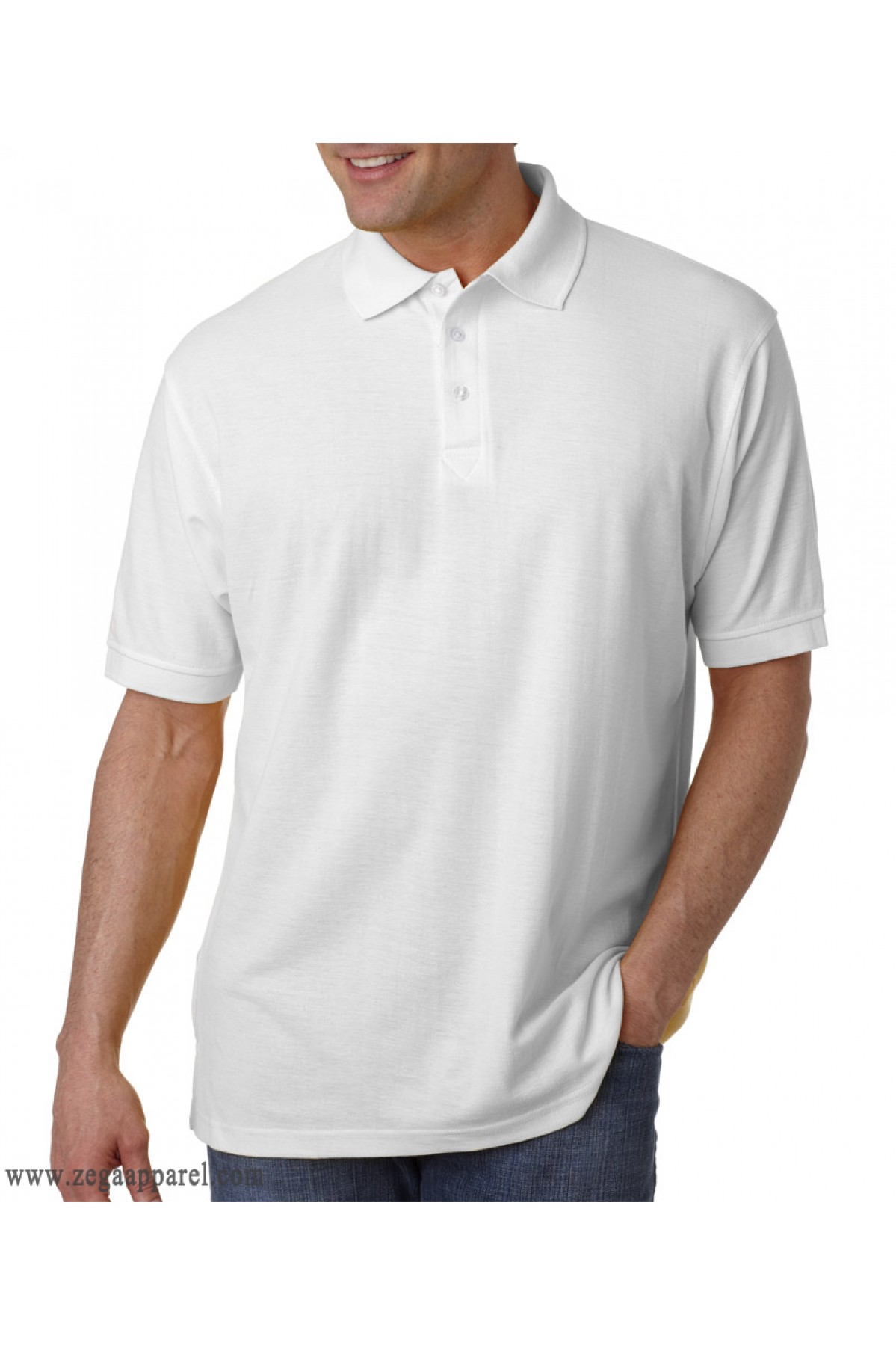 Cotton performance polo shirts zega apparel brand for Custom polo shirts canada